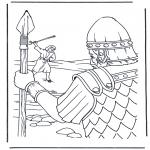 Bibel Ausmalbilder - David und Goliath 1