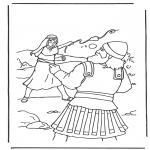 Bibel Ausmalbilder - David und Goliath 2
