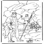 Bibel Ausmalbilder - David und Saul