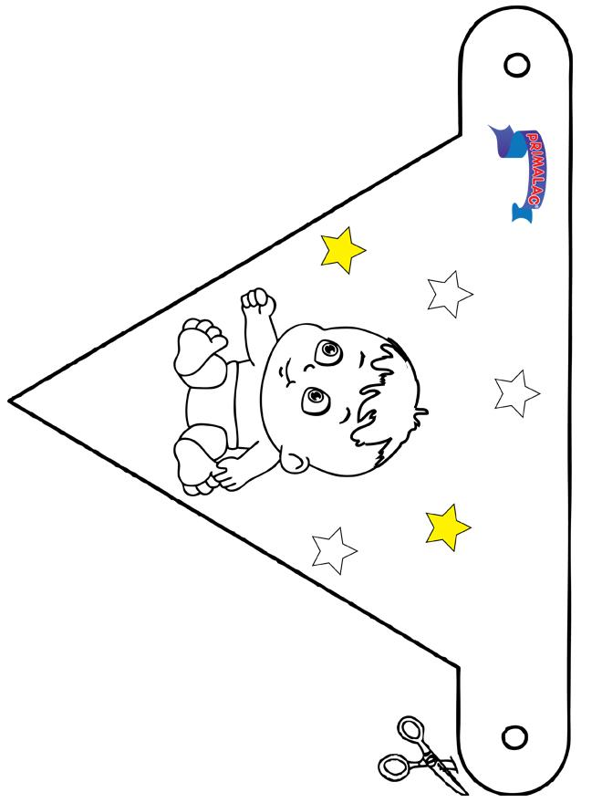 Dekoration Flagge Primalac - Basteln Modellbogen