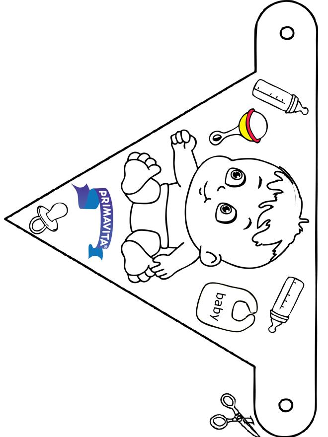 Dekoration Flagge Primavita - Basteln Modellbogen