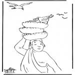 Bibel Ausmalbilder - Der Bäcker und Josef