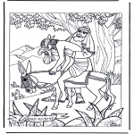 Bibel Ausmalbilder - der barmherzige Samariter 1