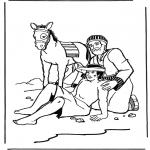 Bibel Ausmalbilder - der barmherzige Samariter 2