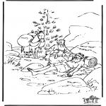 Bibel Ausmalbilder - Der barmherzigeSamariter 6