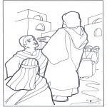 Bibel Ausmalbilder - Der Blinde sieht wieder