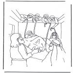 Bibel Ausmalbilder - Der erlahmte Mann 1