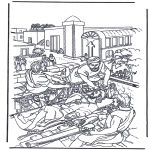 Bibel Ausmalbilder - Der erlahmte Mann 2