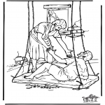 Bibel Ausmalbilder - Der erlahmte Mann 4