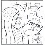 Bibel Ausmalbilder - Der Groschen der Witwe