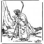 Bibel Ausmalbilder - Der gute Hirte 3