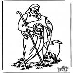 Bibel Ausmalbilder - der gute Hirte 4