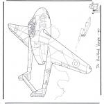 Allerhand Ausmalbilder - der Havilland Vampir