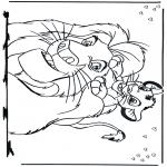 Ausmalbilder Comicfigure - der König der Löwen 2