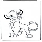 Ausmalbilder Comicfigure - Der König der Löwen 5