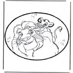 Basteln Stechkarten - Der König der Löwen Stechkarte