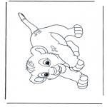 Ausmalbilder Comicfigure - Der Löwenkönig Simba