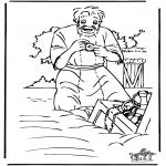 Bibel Ausmalbilder - Der Schatz