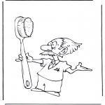 Allerhand Ausmalbilder - Der Zahnarzt 2