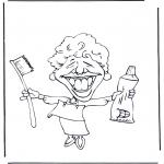 Allerhand Ausmalbilder - Der Zahnarzt