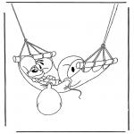 Ausmalbilder Comicfigure - Diddl malvorlagen