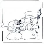 Malvorlagen Winter - Diddl Winter 1