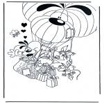 Ausmalbilder Comicfigure - Diddle 11