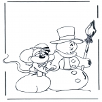 Ausmalbilder Comicfigure - Diddle 15
