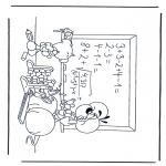 Ausmalbilder Comicfigure - Diddle 17