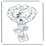 Ausmalbilder Comicfigure - Diddle 18