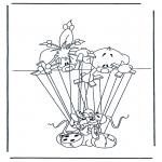 Ausmalbilder Comicfigure - Diddle 28