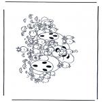 Ausmalbilder Comicfigure - Diddle 32
