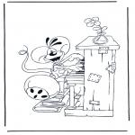 Ausmalbilder Comicfigure - Diddle 33