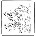 Ausmalbilder Comicfigure - Diddle 38