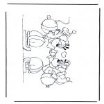 Ausmalbilder Comicfigure - Diddle 40