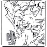 Bibel Ausmalbilder - die Arche Noah 1