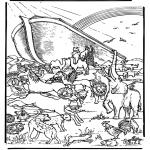 Bibel Ausmalbilder - die Arche Noah 5