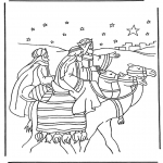 Bibel Ausmalbilder - die drei Weisen 1