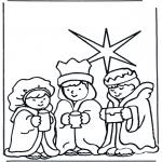 Bibel Ausmalbilder - die drei Weisen 2