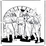 Bibel Ausmalbilder - die Freunde von Daniel