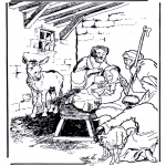 Bibel Ausmalbilder - die Geburt Jesus