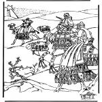 Bibel Ausmalbilder - Die heilige Drei Könige