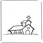 Bibel Ausmalbilder - Die Kirche 1