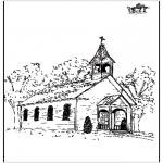 Bibel Ausmalbilder - Die Kirche 2