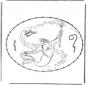 Die kleine Meerjungfrau Stickkarte