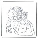 Ausmalbilder Comicfigure - Die Schöne und das Biest 1