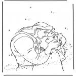 Ausmalbilder Comicfigure - Die Schöne und das Biest 2