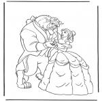 Ausmalbilder Comicfigure - Die Schöne und das Biest 3
