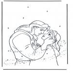 Ausmalbilder Comicfigure - Die Schöne und das Biest 5
