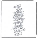 Ausmalbilder Comicfigure - Die sieben Zwerge